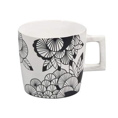 Jennifer Dumet Square Handle Flower Mug | Koop.co.nz