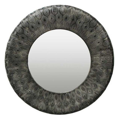 Le Forge Large Black Panama Mirror (88cm) | Koop.co.nz
