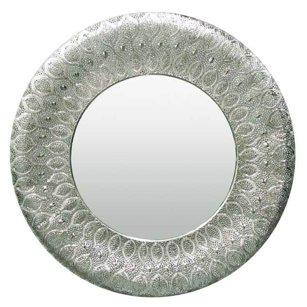 Le Forge Large Silver Panama Mirror (88cm) | Koop.co.nz