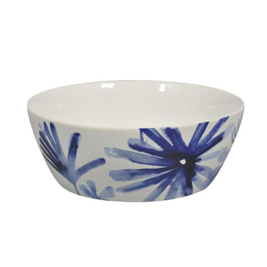 Jennifer Dumet Blue Flower Bowl (24.5cm) | Koop.co.nz
