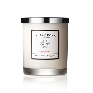 Miller Road Devonport Signature 50hr Soy Candle - Flower Shop | Koop.co.nz
