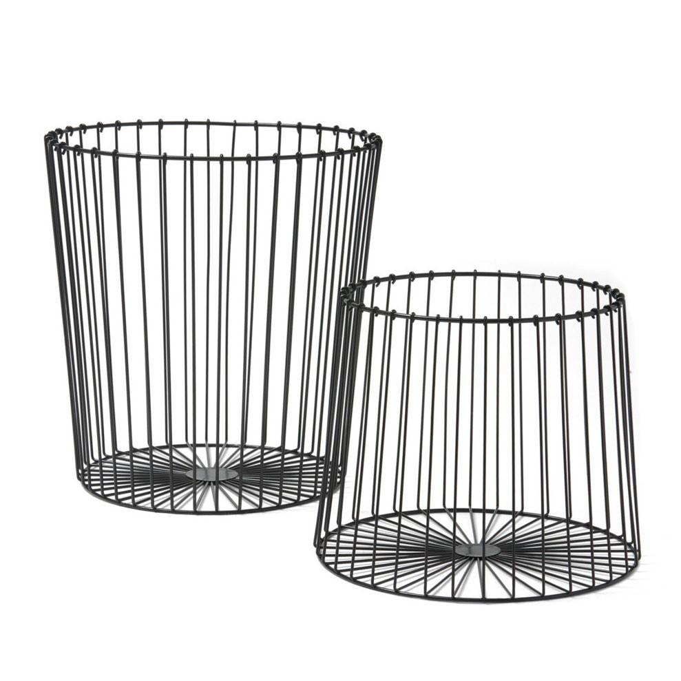 Me & My Trend Black Nesting Basket Set | Koop.co.nz