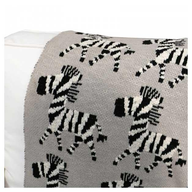 Le Forge Baby Throw Blanket – Zebra | Koop.co.nz