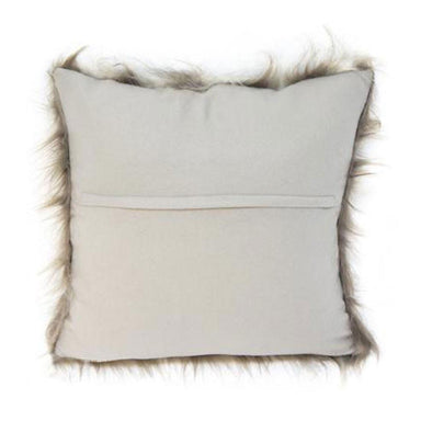 Stoneleigh & Roberson Grey Brown Faux Fur Cushion | Koop.co.nz