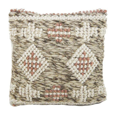 Stoneleigh & Roberson Natural & Blush Wool Cushion | Koop.co.nz