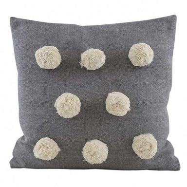 Raine & Humble Grey Pom Pom Cushion | Koop.co.nz