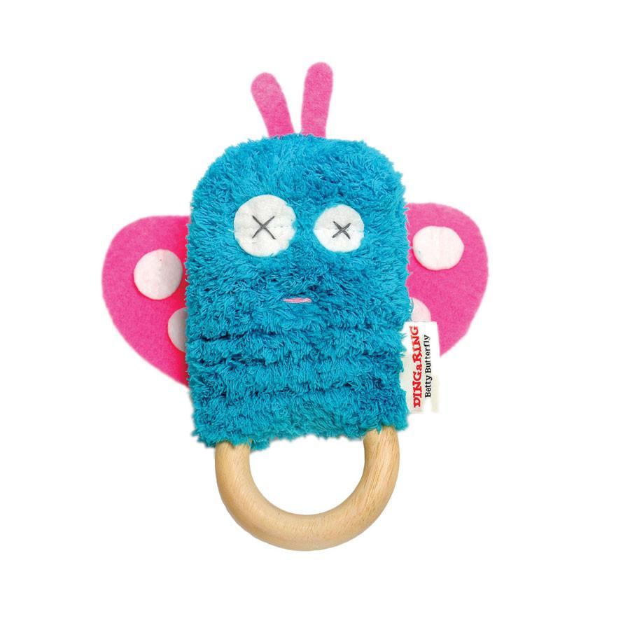 O.B Designs Ding A Ring Teether Rattle - Betty Butterfly | Koop.co.nz
