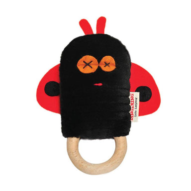 O.B Designs Ding A Ring Teether Rattle - Lulu Ladybug | Koop.co.nz