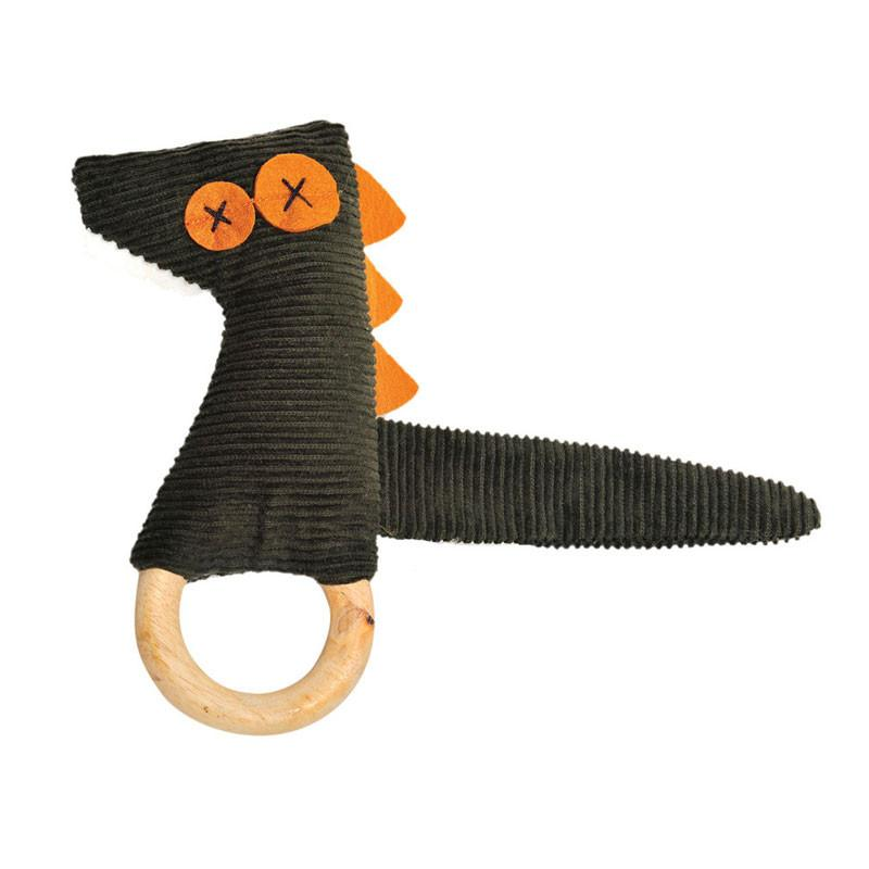 O.B Designs Ding A Ring Teether Rattle - Craig Crocodile | Koop.co.nz