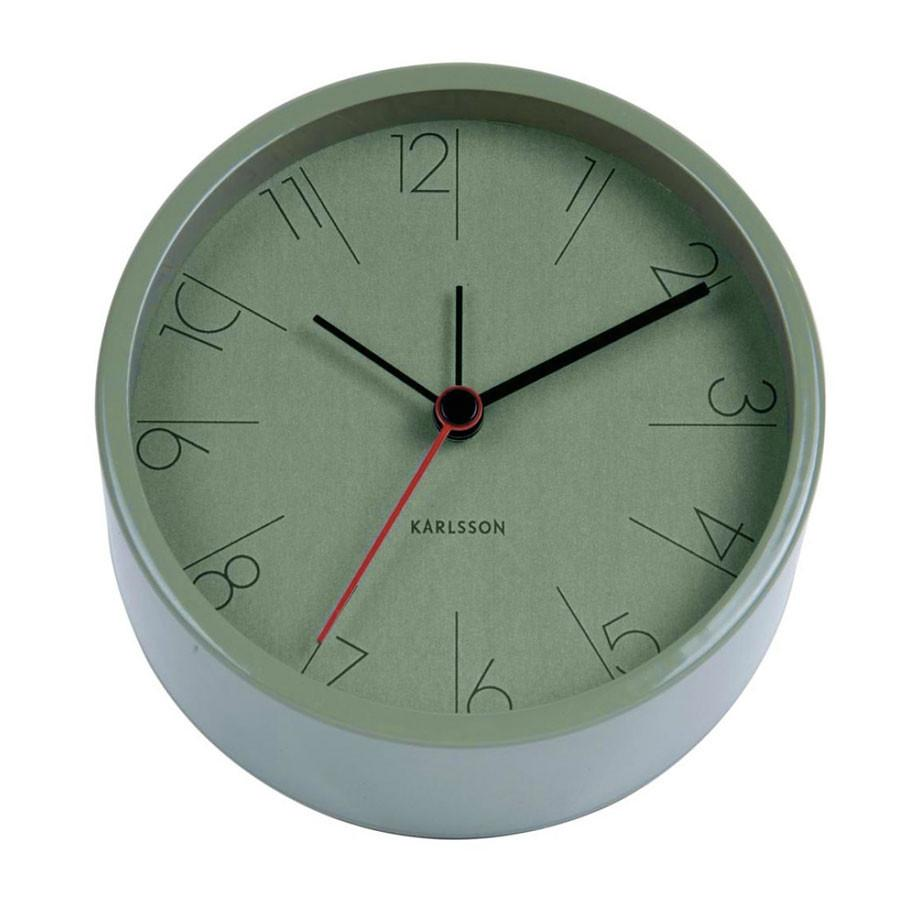 Karlsson Elegant Green Alarm Clock | Koop.co.nz
