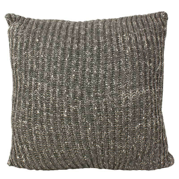 Emporium Dark Grey Langham Knit Cushion (40cm) | Koop.co.nz