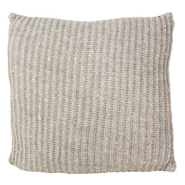 Emporium Grey Langham Knit Cushion (40cm) | Koop.co.nz