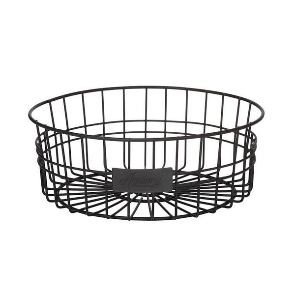 Academy Black Round Basket | Koop.co.nz