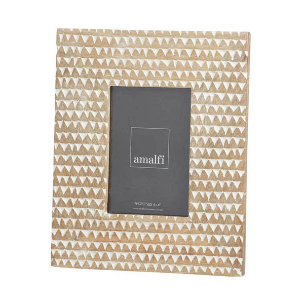 Amalfi Metis Carved Photo Frame – 4x6"