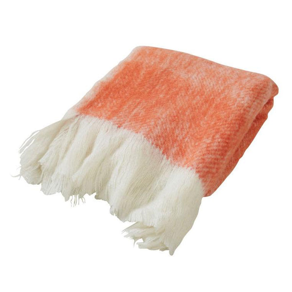 Amalfi Orange Brushed Throw | Koop.co.nz