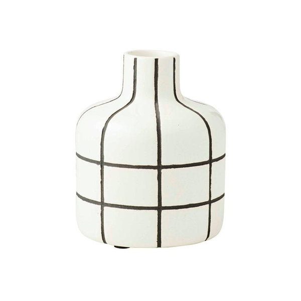 Amalfi Black & White Axil Vase | Koop.co.nz
