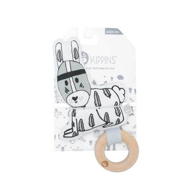 Kippins River Rabbit Organic Cotton Teething Rattle | Koop.co.nz