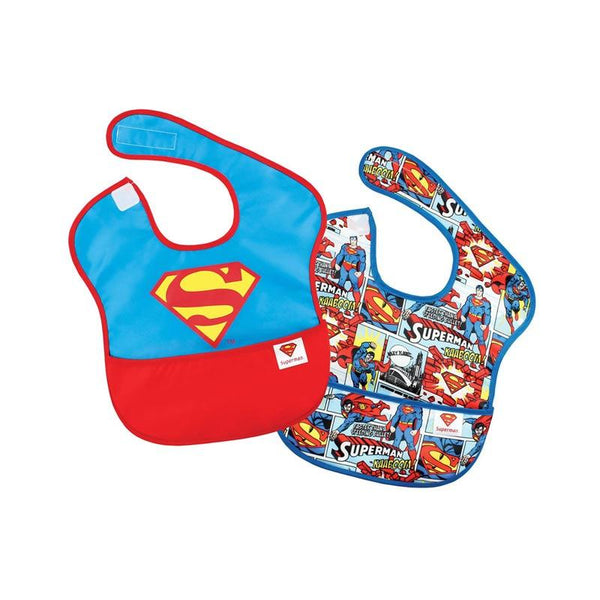 Bumkins Waterproof SuperBib - Superman (2pk) | Koop.co.nz