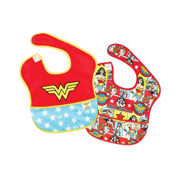 Bumkins Waterproof SuperBib - Wonder Woman (2pk) | Koop.co.nz