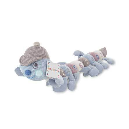 Baby Boo 1-10 Knitted Caterpillar – Blue (60cm) | Koop.co.nz