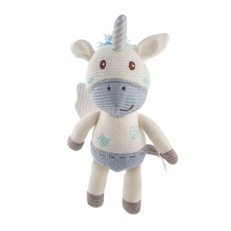 Baby Boo Knitted Unicorn - Blue | Koop.co.nz