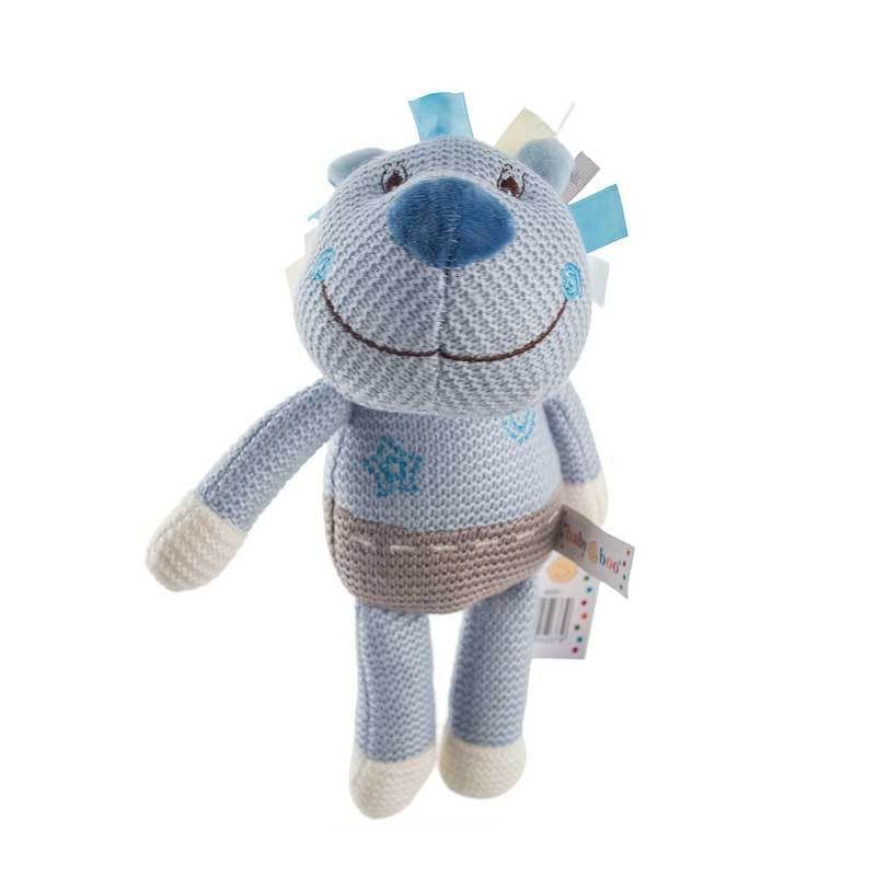 Baby Boo Knitted Lion - Blue | Koop.co.nz
