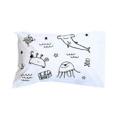 Henry & Co. Black Pirate Gang Pillowcase | Koop.co.nz