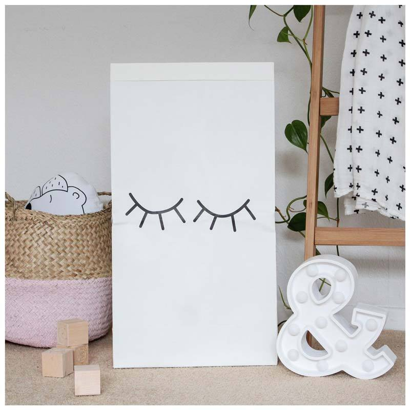 Pika & Pookie Kraft Storage Bag - Lashes | Koop.co.nz