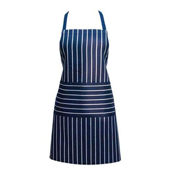 Annabel Trends Navy Butchers Stripe Apron | Koop.co.nz