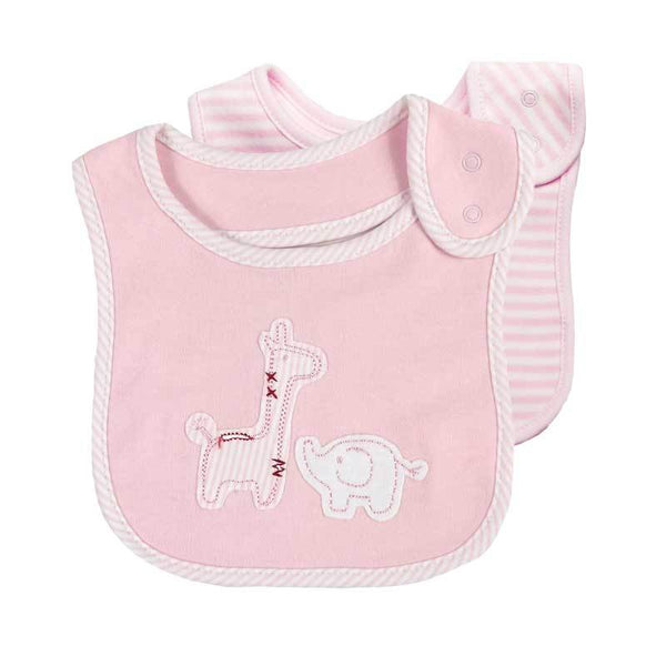 Emotion & Kids Thrills and Spills Bib Set (2pc) - Pink Safari | Koop.co.nz