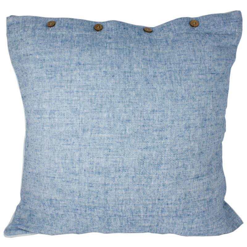 Craft Studio Heather Euro Cushion - Blue (60cm) | Koop.co.nz