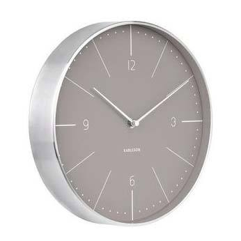 Karlsson Normann Numbers Clock - Grey (27.5cm) | Koop.co.nz