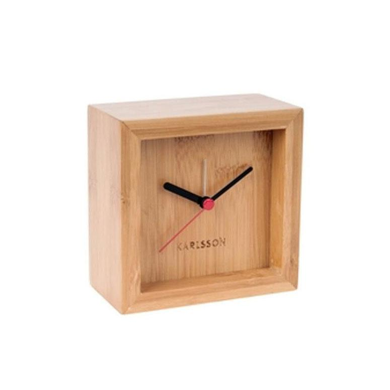 Karlsson Franky Alarm Clock - Wood | Koop.co.nz