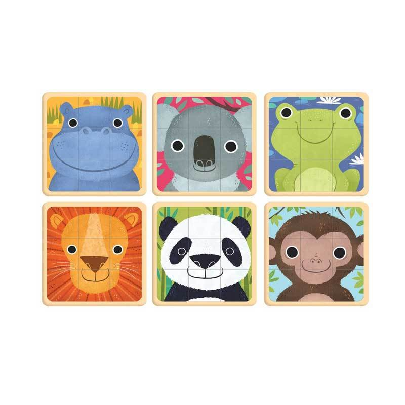 Mudpuppy Puzzle Squares – Animals Of The World (27pc) | Koop.co.nz
