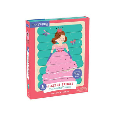 Mudpuppy Puzzle Sticks – Enchanting Princess (24pc) | Koop.co.nz