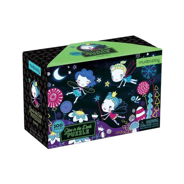 Mudpuppy Glow in the Dark Puzzle - Fairies (100pc) | Koop.co.nz