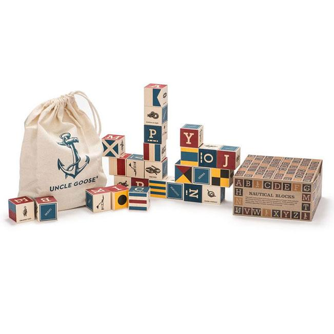 Uncle Goose Nautical ABC Blocks (26pc) | Koop.co.nz