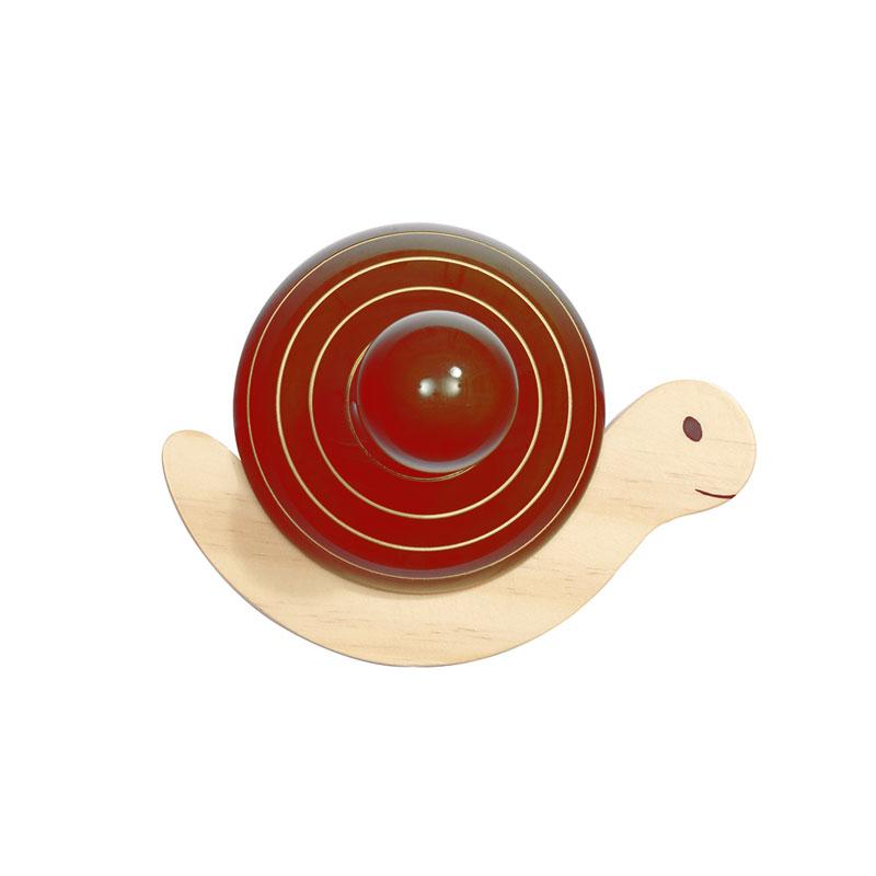 Maya Organic Fair Trade Wooden Wall Hook - Snail | Koop.co.nz