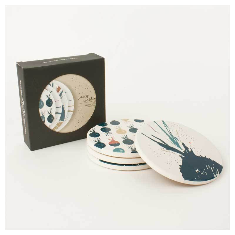 The Source Juicy Ceramic Coaster Set | Koop.co.nz