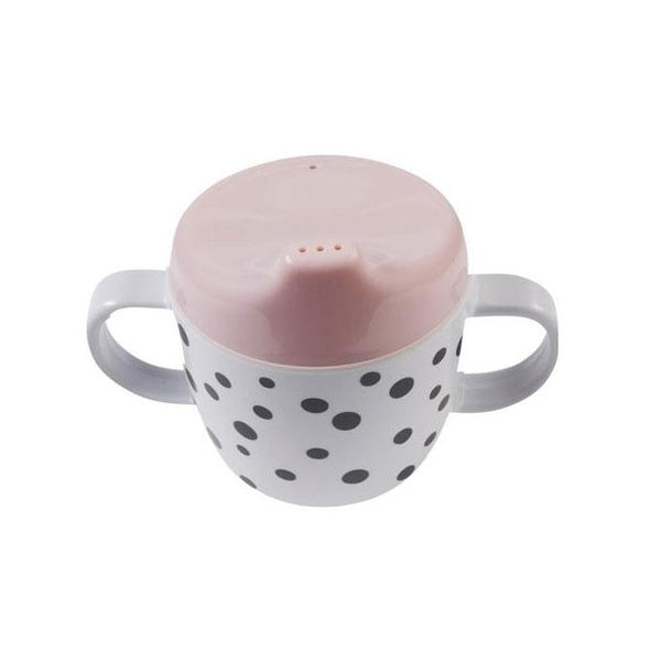 Done By Deer Happy Dots Spout Cup - Powder | Koop.co.nz