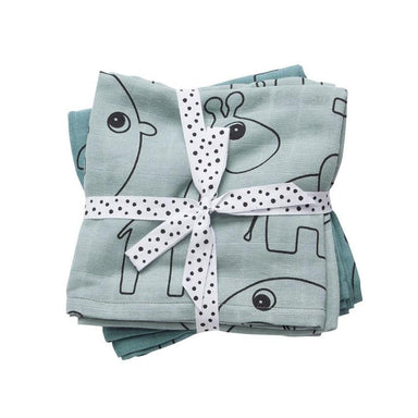 Done By Deer Contour Swaddle 2pk - Blue | Koop.co.nz