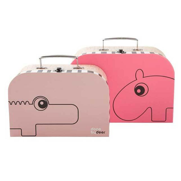 Done By Deer Suitcase Set – Raspberry & Powder | Koop.co.nz