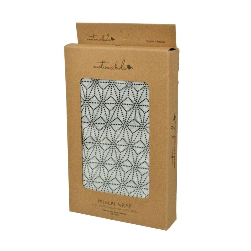 Emotion & Kids Geometric Muslin Wrap | Koop.co.nz