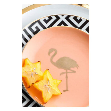 Rosanna Inc Patio Party Flamingo Plates S/4 | Koop.co.nz