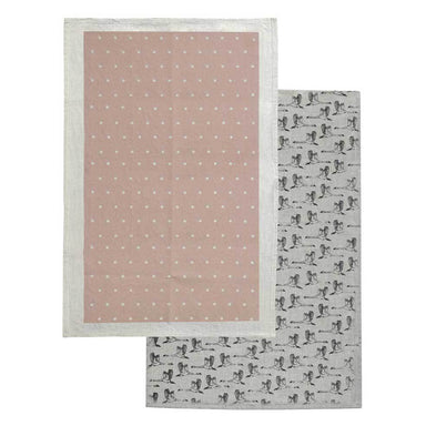 Raine & Humble In Flight Tea Towel Pack – Champagne Pink (2pc) | Koop.co.nz