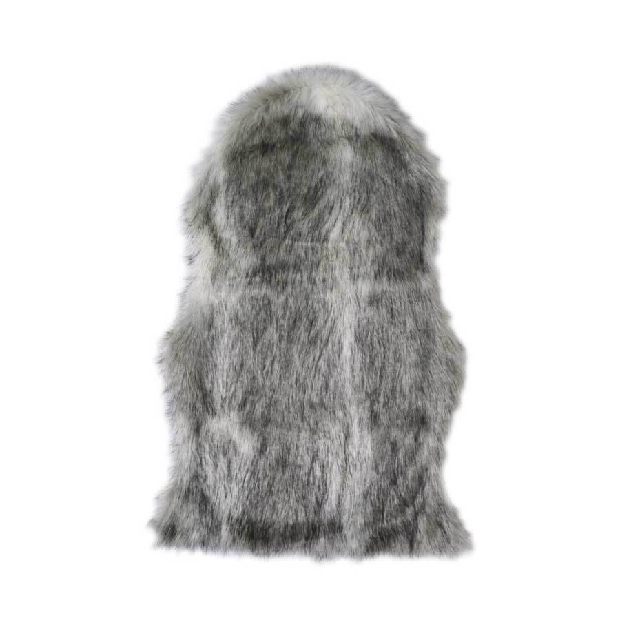 Jason Grey Marle Faux Fur Chair Cover | Koop.co.nz