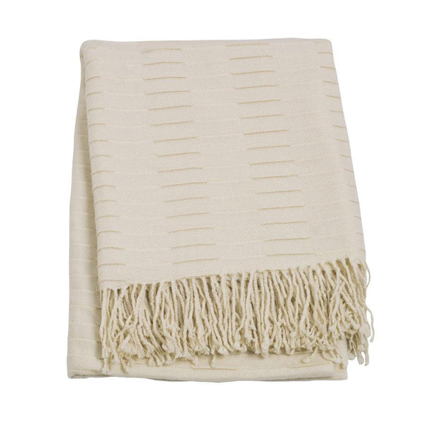 Jason Cream Knit Throw | Koop.co.nz