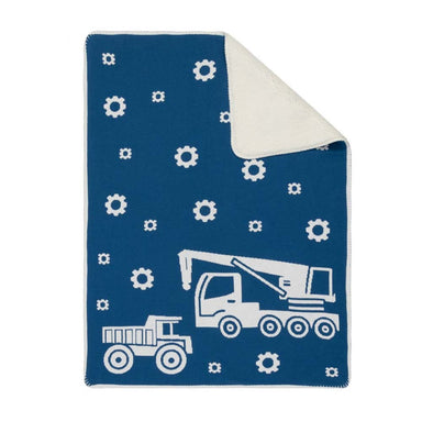 Linens & More Truck Sherpa Baby Blanket | Koop.co.nz