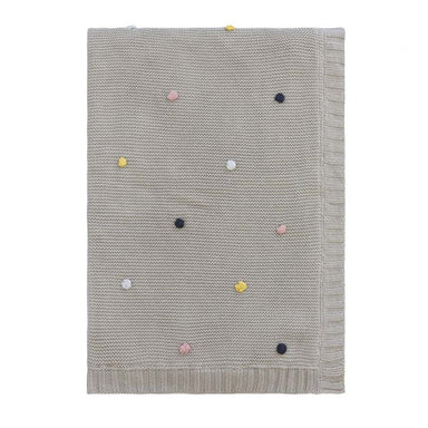 Linens & More Pom Pom Knitted Baby Blanket | Koop.co.nz
