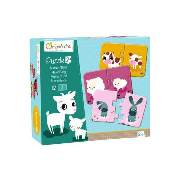 Mandarine Avenue Mum & Baby Animal Pairing Puzzle | Koop.co.nz